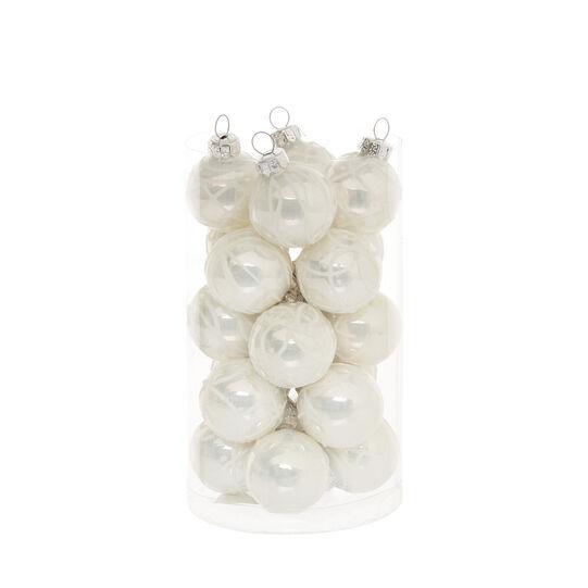 Set 20 sfere vetro decorato D 3 cm