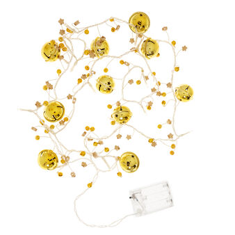 String of 16 fairy lights with bells
