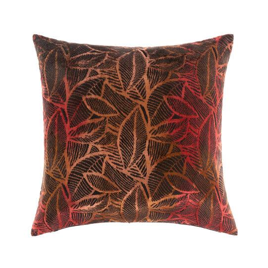 Cuscino velluto foglie 50x50cm
