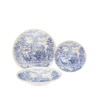 Set 18 piatti stoneware English Country