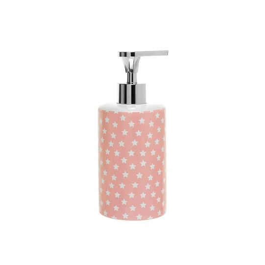 Dispenser in ceramica rosa fantasia stelline