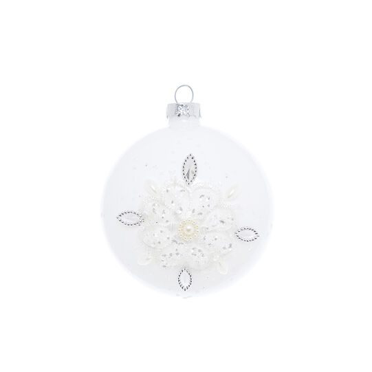 Hand-decorated onion bauble with lace and diamantà©s