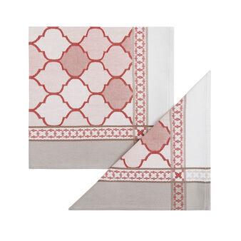 Set 2 tovaglioli cotone jaquard stampa marocco
