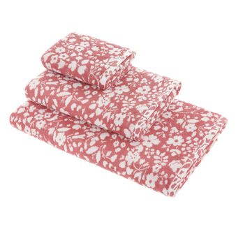 100% cotton towel with floral pattern