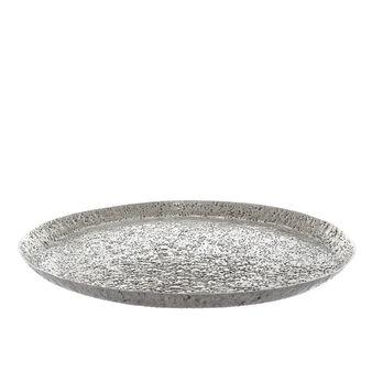 Centrotavola in alluminio martellato a mano