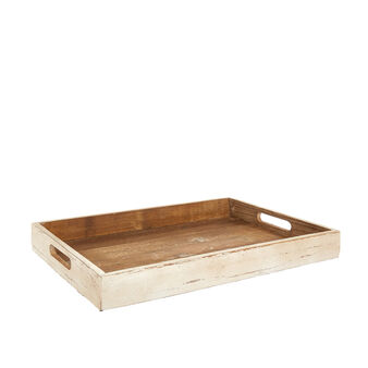 Rectangular fir wood tray