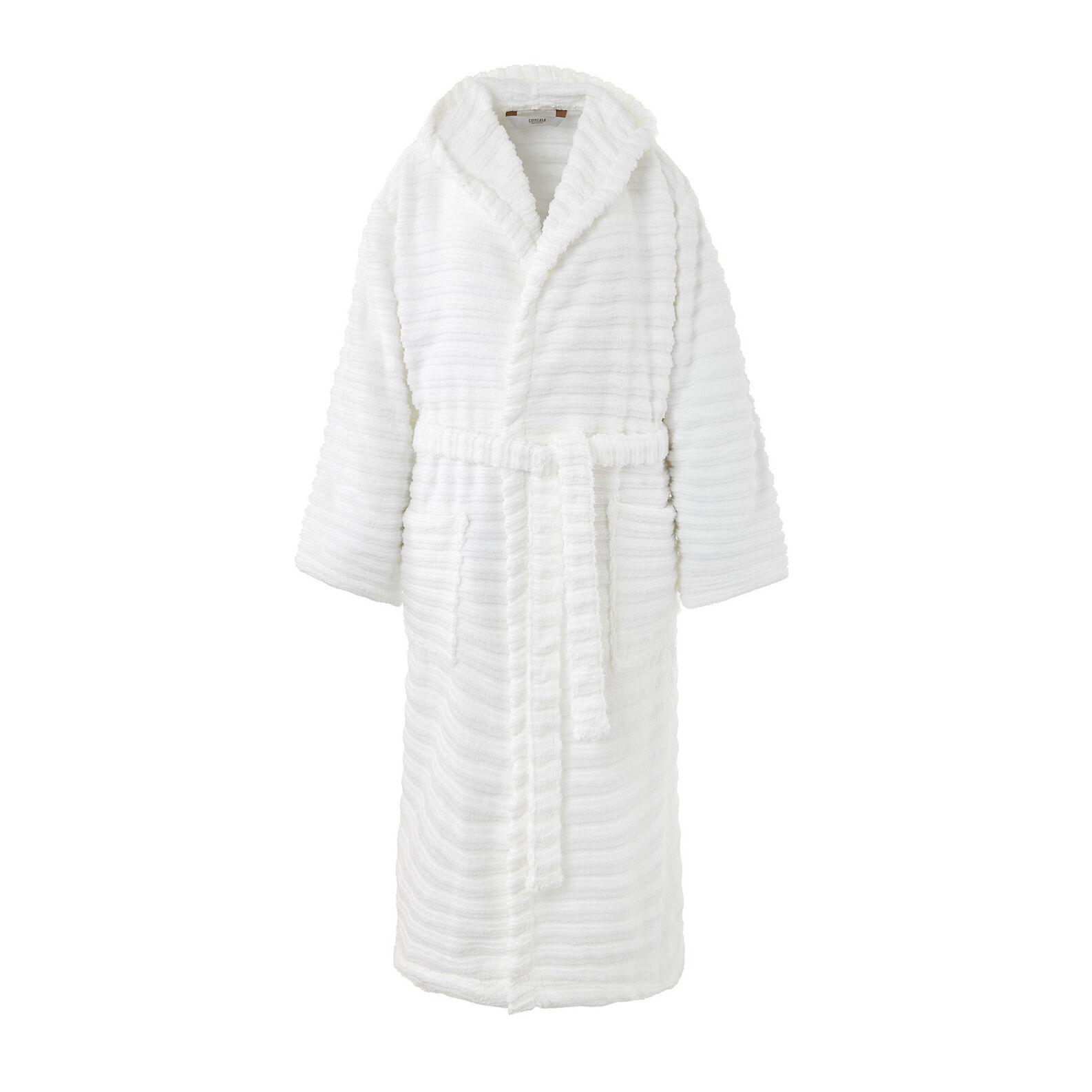 Solid color organic cotton bathrobe
