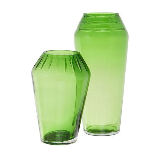 Handmade coloured glass vase