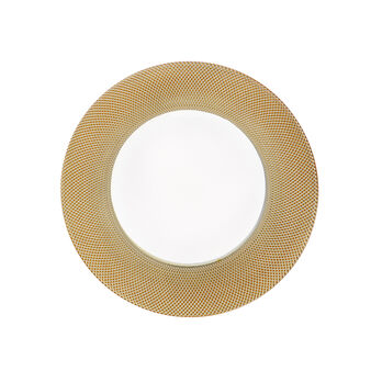 Glass charger plate with gold edge