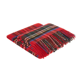 Tartan wool blend throw
