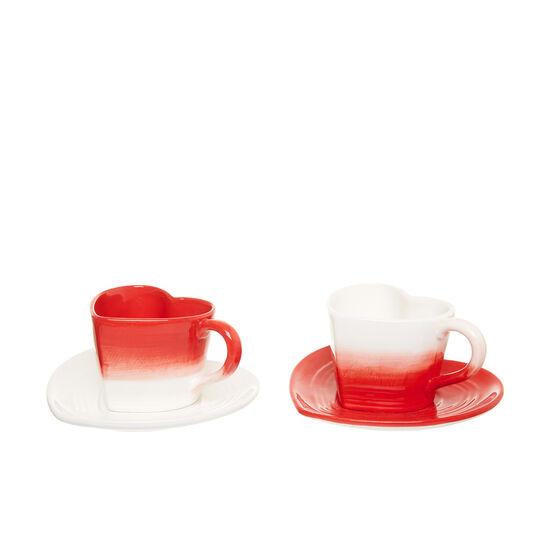 Tazze da tè ceramica a cuore