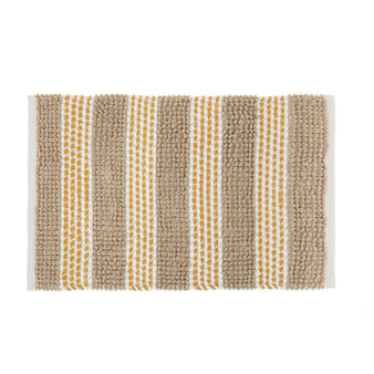 Polycotton bath mat with stripes