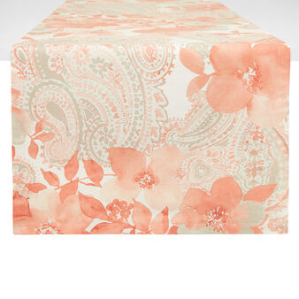 100% cotton table runner with rose print