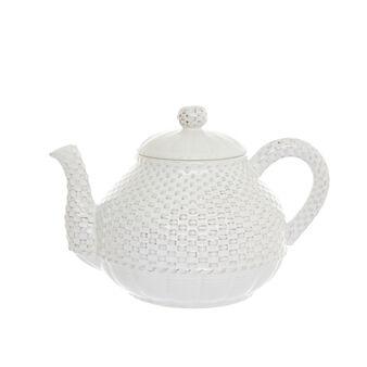 Isabel antiqued ceramic teapot