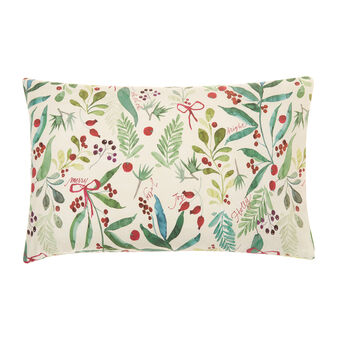 Cotton percale pillowcase with Christmas design