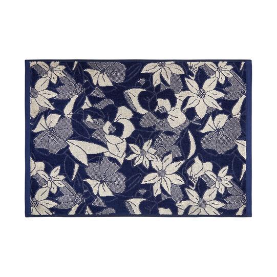 Cotton velour towel with floral design