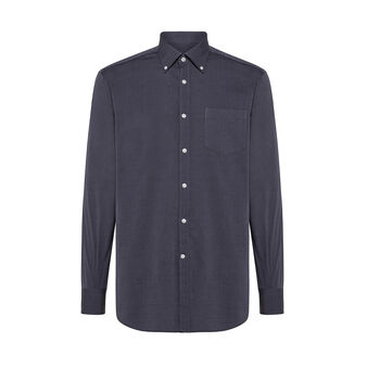 Regular fit button-down shirt in cotton