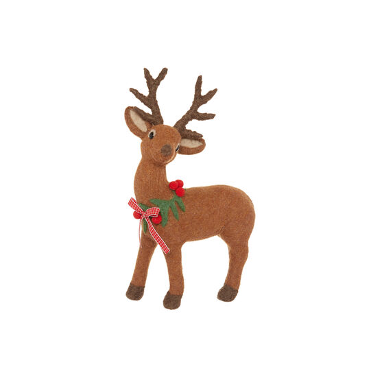 Deer soft toy in felt