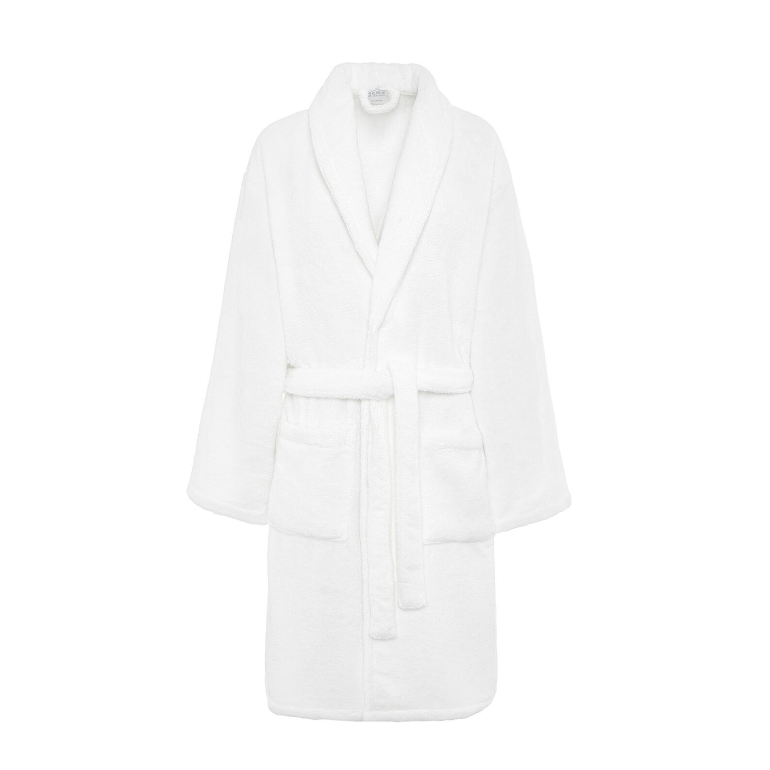 Thermae solid colour bathrobe in 100% cotton