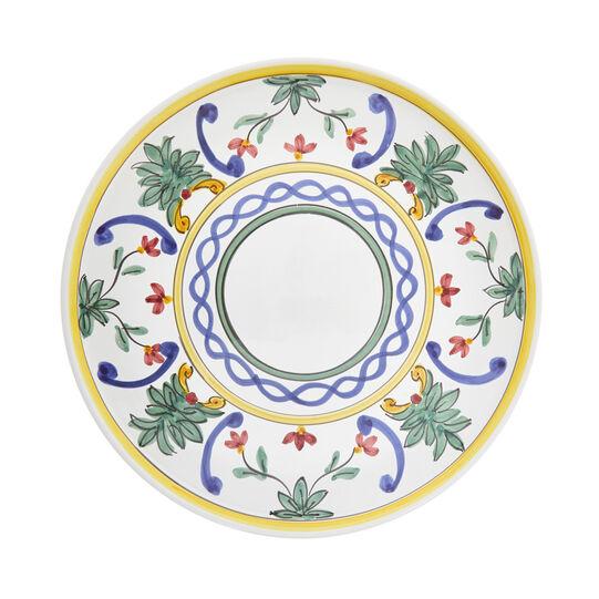 Serving dish with floral decoration by Ceramiche Siciliane Ruggeri