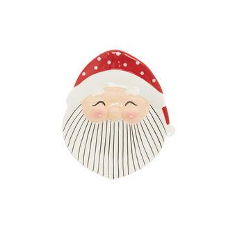 Santa Claus ceramic saucer