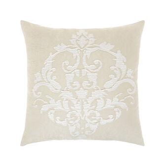 Embossed jacquard cushion 50x50cm