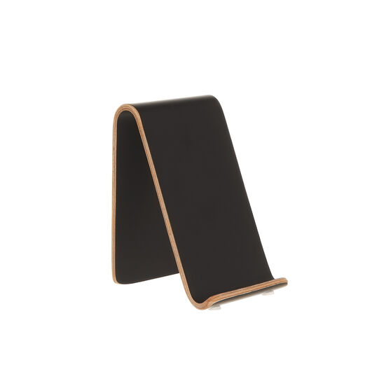 Vertical mobile phone holder in birch wood