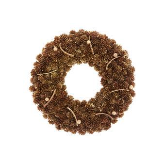 Decorative wreath with pine cones