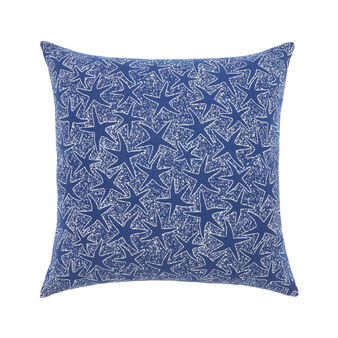 Outdoor cushion with starfish print 50x50cm