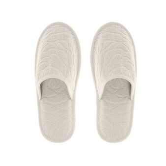 Portofino 100% cotton terry slippers with English roses