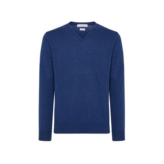 V-neck pullover in cashmere blend