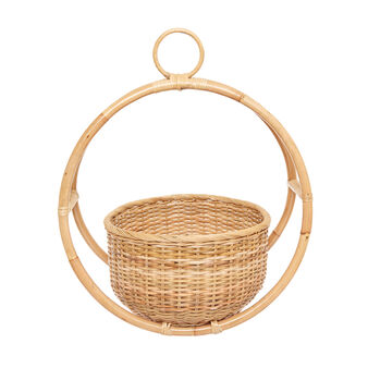 Hanging basket in rattan