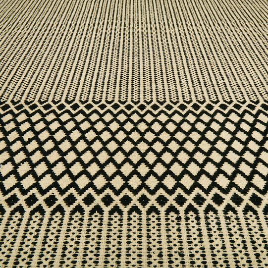 Tappeto cotone jacquard trama geometrica