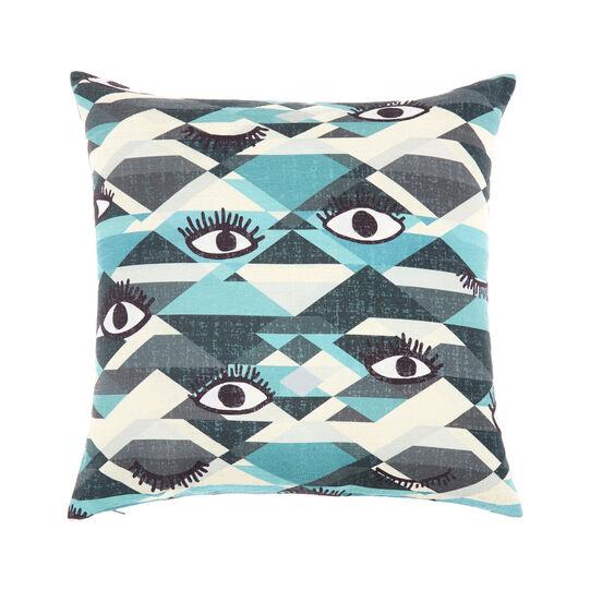 Velvet eyes cushion 45x45cm