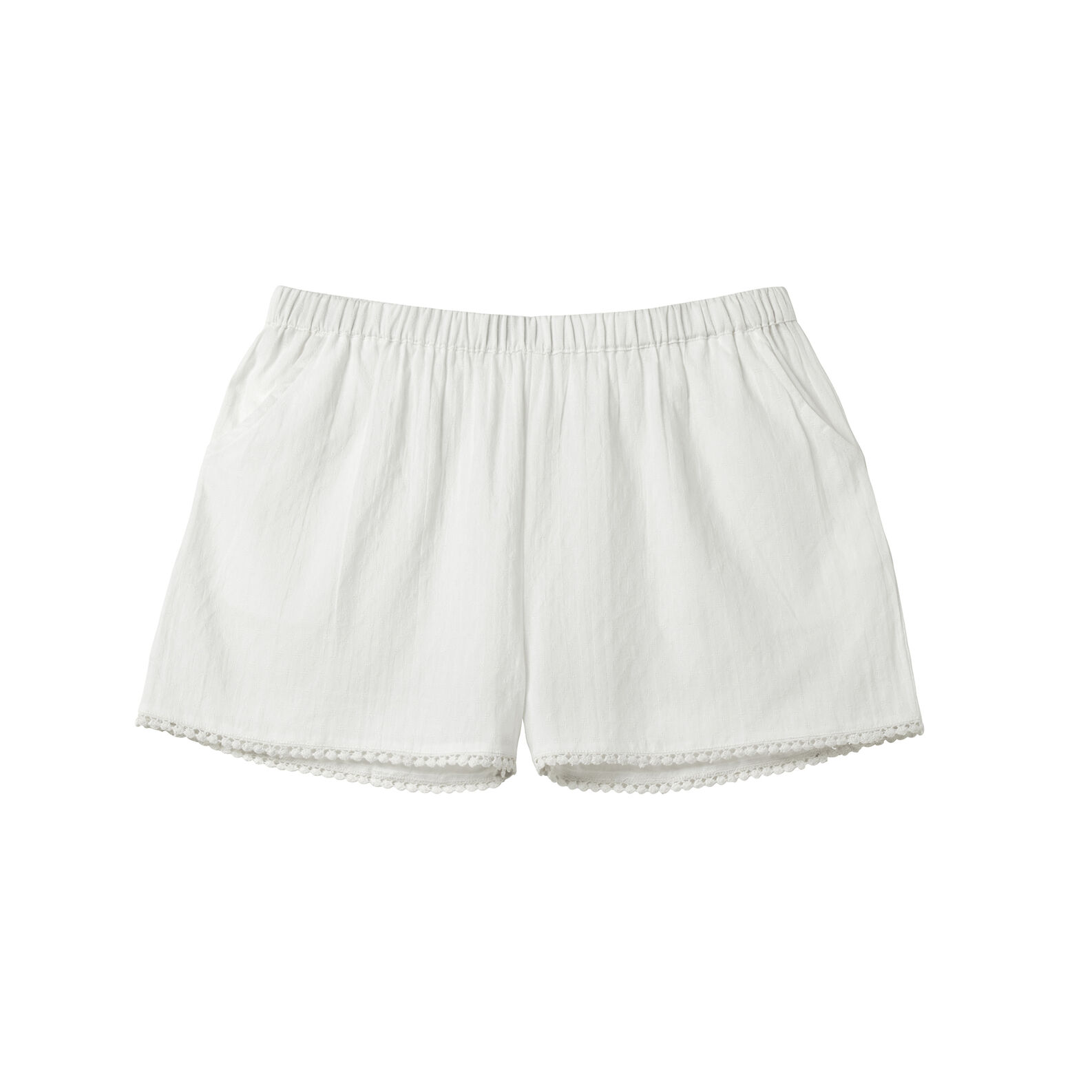 Ultra-lightweight shorts in 100% cotton.