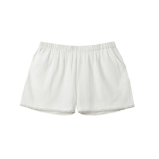 Ultra-lightweight shorts in 100% cotton.