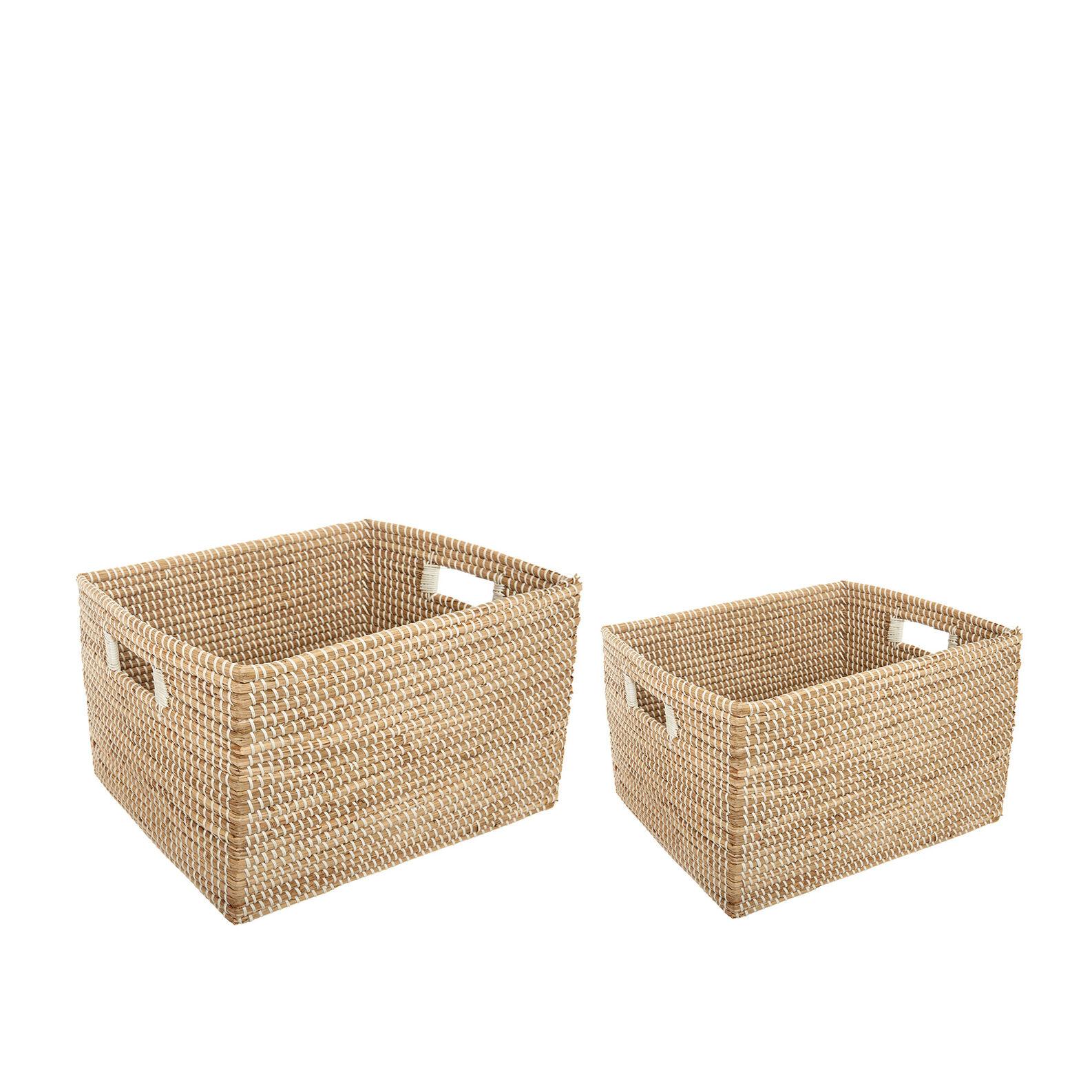 Handmade seagrass basket