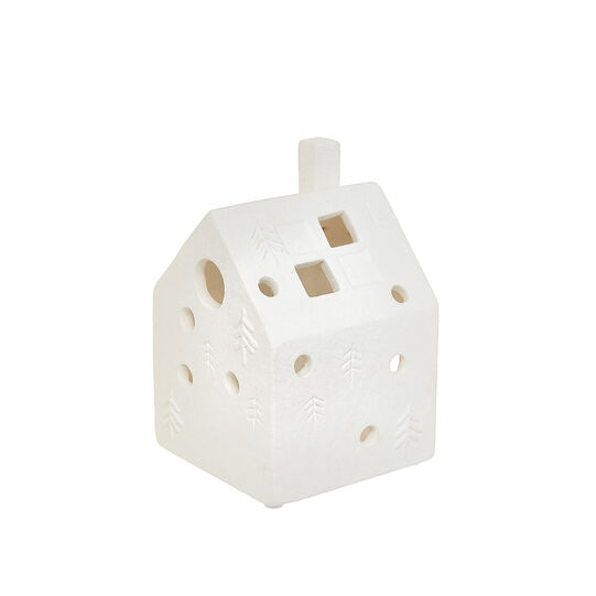 House-shaped ceramic lantern
