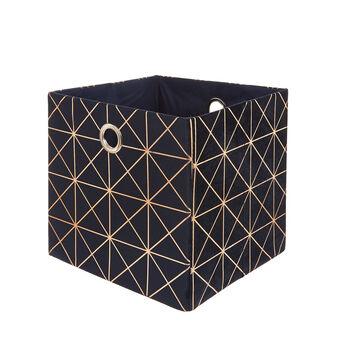 Folding basket with velvet handles