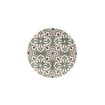 Piatto frutta ceramica decorata Tapestry