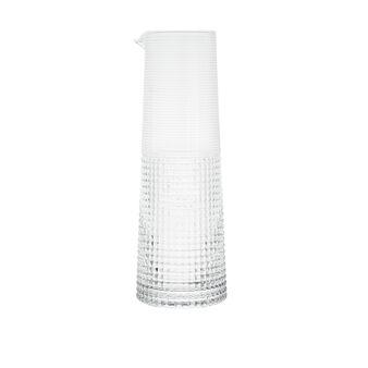 Caraffa vetro soffiato decorato