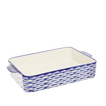 Polka dot ceramic oven dish