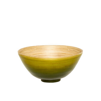 Painted bamboo bowl