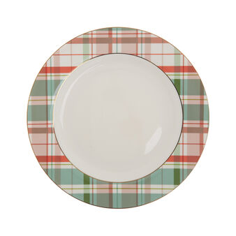 Piatto da portata new bone china tartan
