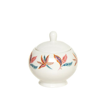 New Bone China sugar bowl with floral design