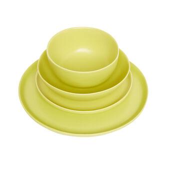 Tableware range in hard opaque ceramic