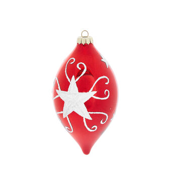 Hand-decorated mirror-effect glass spindle