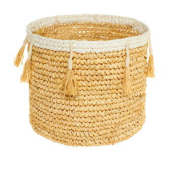 Lillo sisal basket with tassels