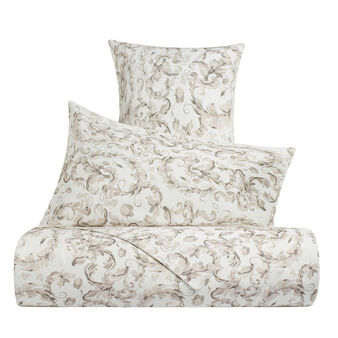 Cotton satin duvet cover with ornamental pattern