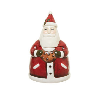 Father Christmas ceramic biscuit barrel